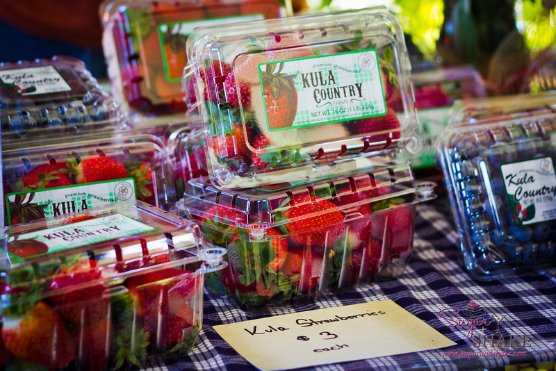 Kula strawberries, yum! © 2012 Sugar + Shake