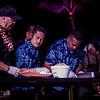 Chef Greg Grohowski and assistants help plate Chef Sheldon Simeon's dish. © 2013 Sugar + Shake