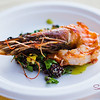 "Spicy Kauai Prawns, Sweet Corn, Quinoa Salad, Jalapeno Basil Vinaigrette from <a href=""http://merrimanshawaii.com/maui.htm"">Merriman's Kapalua</a> (Executive Chef Neil Murphy). © 2012 Sugar + Shake"