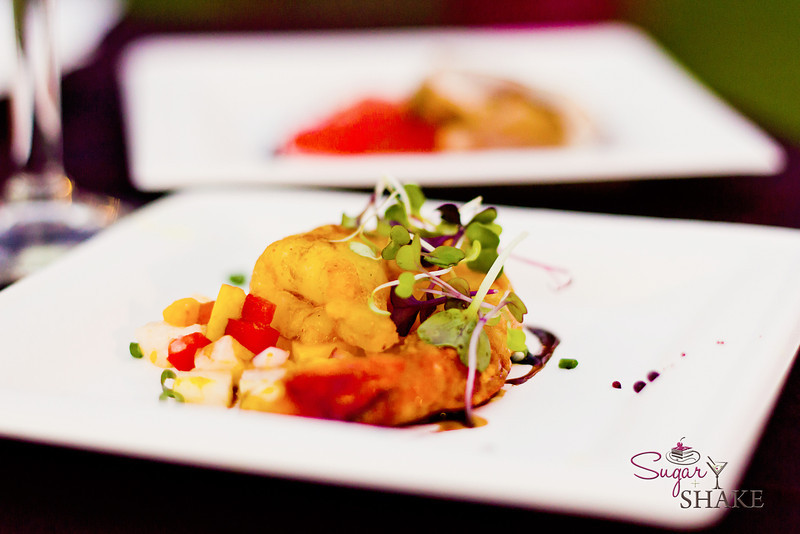 Another Curried Shrimp dish, this one with Mango Jicama Salsa from Hula Grill. © 2012 Sugar + Shake