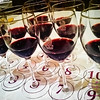 """Shake's 12 tasting portions from the """"Pinot Superstars"""" seminar he attended. His favorites? Nos. 5 & 6 — selections from <a href=""""http://www.pisonivineyards.com"""">Pisoni Vineyards</a>. © 2012 Sugar + Shake"""