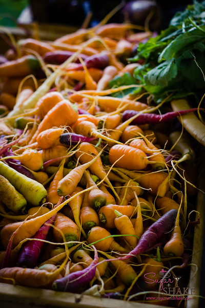 Ranbow carrots from Ho'opono Farm. © 2013 Sugar + Shake