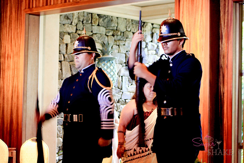 The Celebration of the Arts event kicked off with a salute from the Royal Hawaiian Guard. © 2012 Sugar + Shake