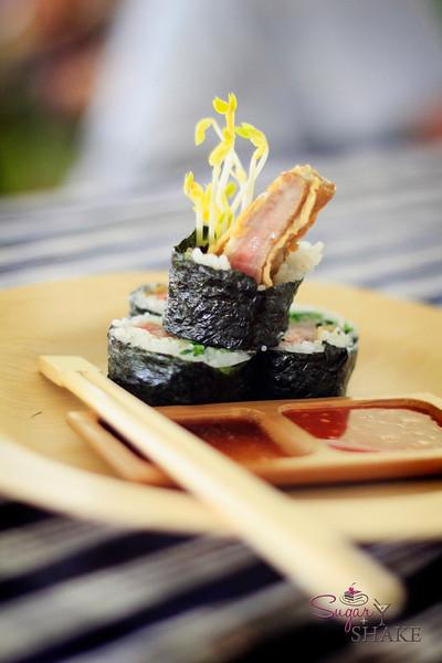 Chef Tylun's Korean Beef Jun Sushi. © 2012 Sugar + Shake