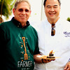 Chef Tylun Pang of Ko Restaurant at the Fairmont Kea Lani with his farmer partner (actually a rancher) Alex Franco of Maui Cattle Company. © 2012 Sugar + Shake