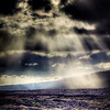 """God Rays"" on a lava landscape. © 2012 Sugar + Shake"