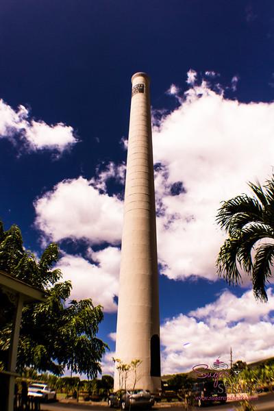 The Lahaina community saved and restored the historic Pioneer Mill smoke stack. © 2013 Sugar + Shake