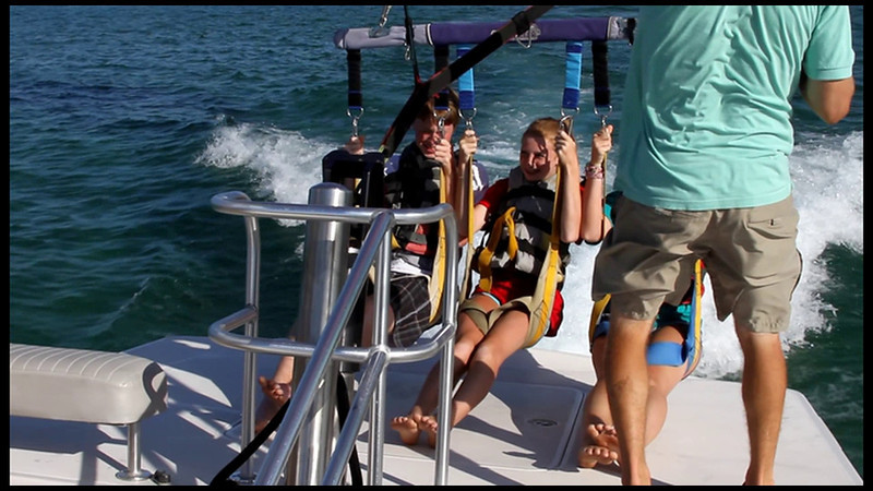 Video of Alex, Carly, and Megan parasailing