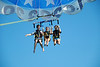 Alex, Carly and Megan parasailing