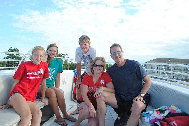 Carly, Megan, Alex, Cheri and me, after parasailing.