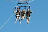 Alex, Carly, and Megan parasailing