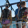 Megan and Carly getting hooked up to the parasail