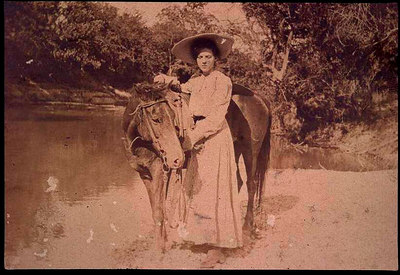 lady with horse @ river