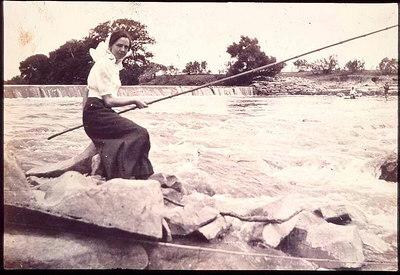 Fannie Ratchford fishing