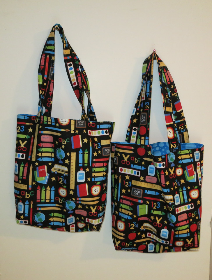 Matching bags for Anna and her favorite teacher