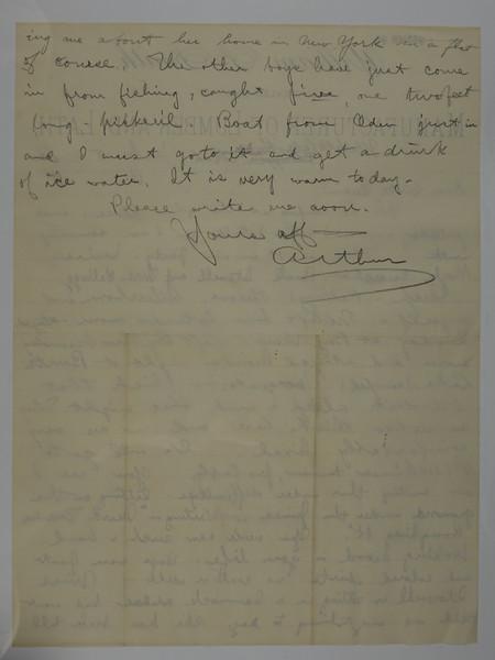 1885 July 8 to Susie Stebbins from Arthur C Stebbins