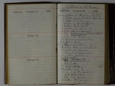 1878 AC Stebbins Diary & Expense book