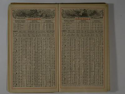 1887 AC Stebbins Diary & Expense Book