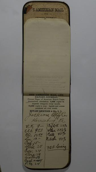 1889 AC Stebbins Expense Book