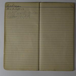 AC Stebbins Expense book Undated