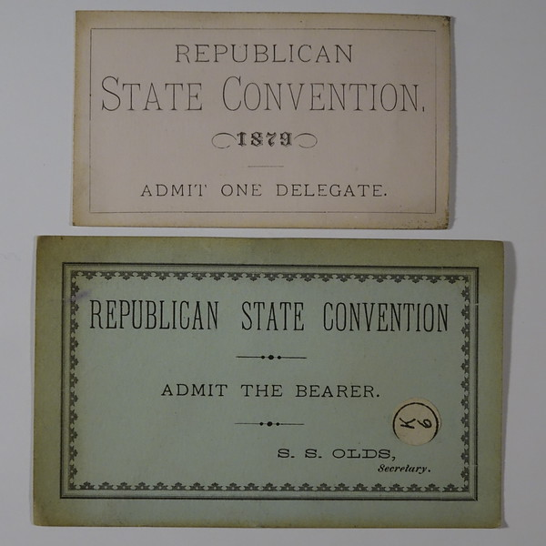 1879 Cards Republican State Convention