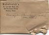 1 Envelope for Glass & TinType Negatives