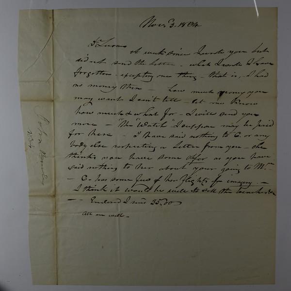 1834 Nov 3 T Who From John Burley