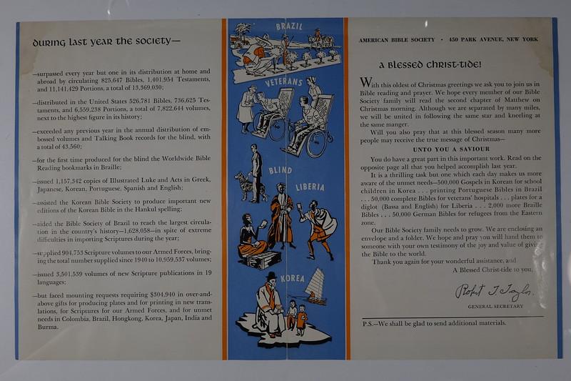 American BIble Society calendar 1954