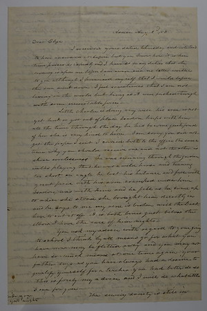 Letters from HH Seaver to Daughter Eliza Smith Stebbins