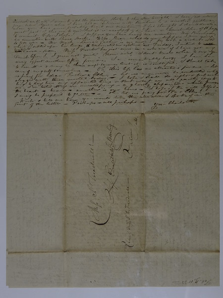 1833 to Harriet S Hartwell (Sister) from Charlotte