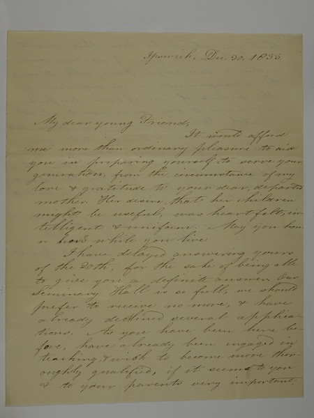 1833 Dec 30 To My Young Friend (sister Charlotte) from Grant