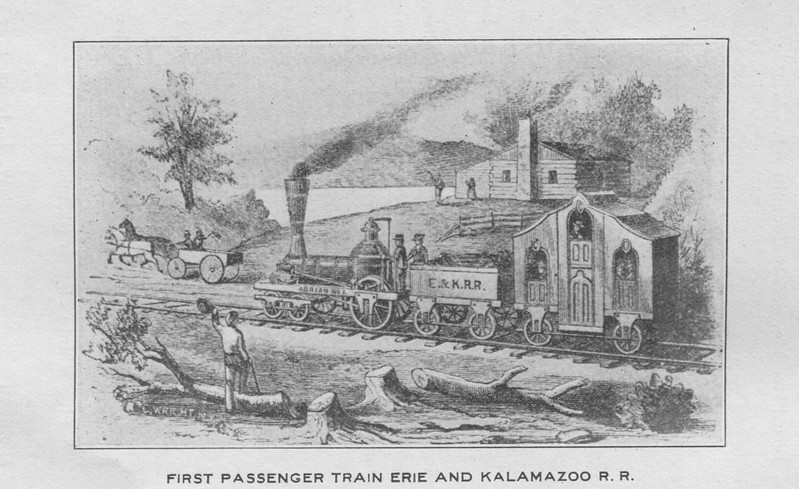 First Passenger Train Erie and Kalamazoo RR-001
