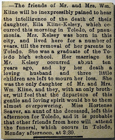 Newspaper clippings & Obituaries