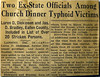 Article re Typhoid victums from church dinner Eaton Rapids