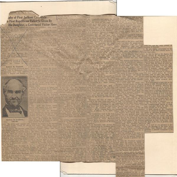 Obituary Seymour B Treadwell 4 July 1929