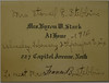 Invitation to Susy Stark to meet Mrs Francis B Stebbins