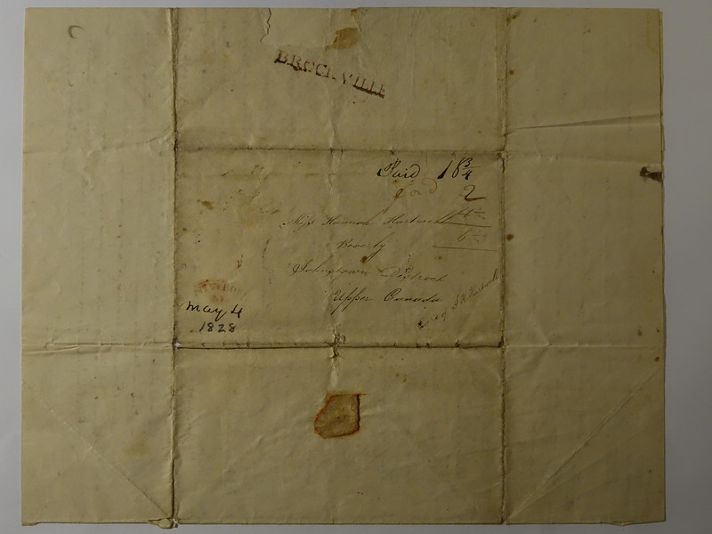 Letter to Hannah Hartwell from Friend Dorathy Acest 3 May 1828