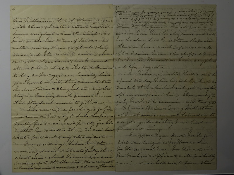Letter from Lida to her Auntie 2 Aug 1888