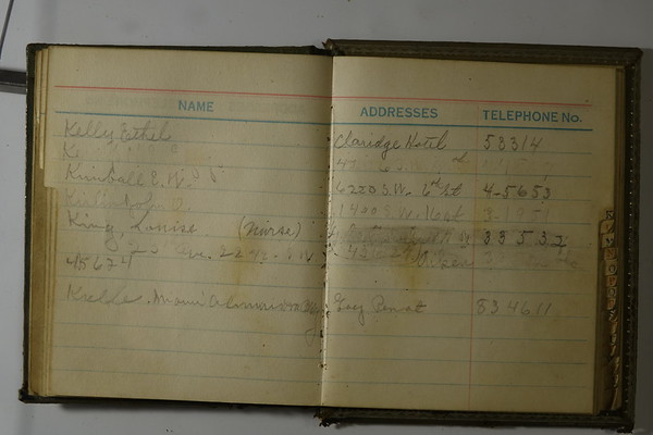 Telephone book maybe of Anna B Stebbins