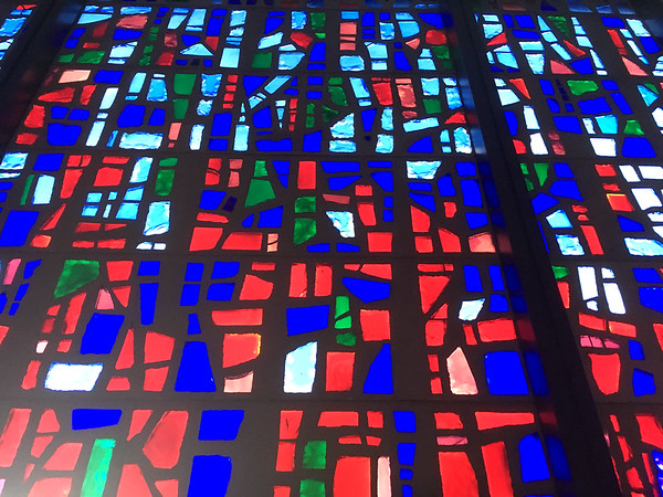 The chapel features 24,000 pieces of glass in 24 colors.