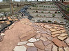 red sand and flagstone piecing