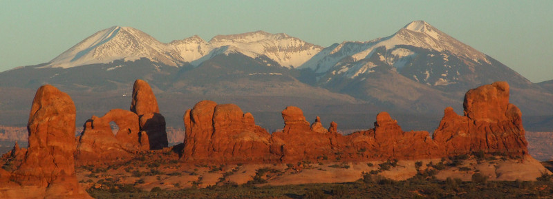 Turret Arch and the La Sal Mountains
