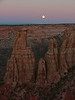 Sunset and Moonrise at Monument Canyon