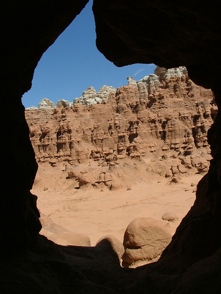 Arch View of Goblin Valley Rock