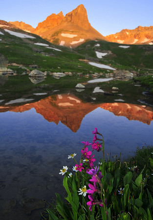 Golden Horn reflects in upper Ice Lake