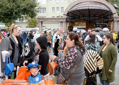 during Treat Street in downtown Chico, Calif. Monday Oct. 31, 2016. (Bill Husa -- Enterprise-Record)