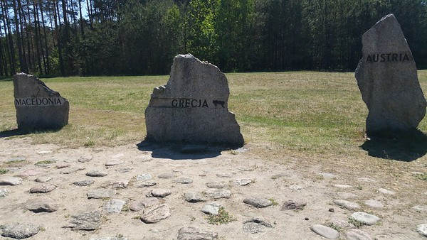 We start our visit a Treblinka 2,the extermination camp...we discover Treblinka 1 later on.