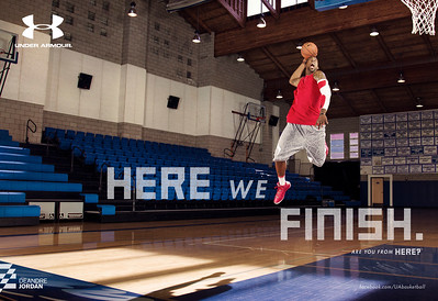 "Subject: NBA forward DeAndre Jordan<br /> Campaign: ""Here we finish""<br /> Client: Under Armour"