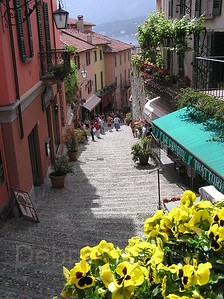 Cobblestone Street, Bellagio, Lake Como, Italy
