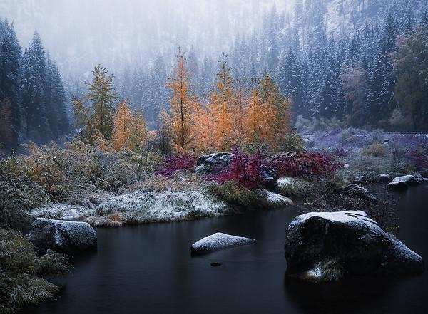 Winter creeping in on Fall - Leavenworth, Washington